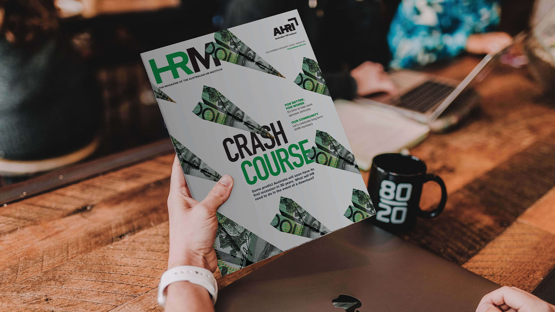 HRM magazine as image for publishing services